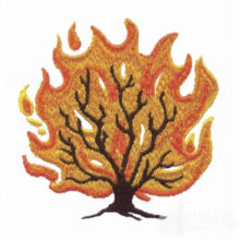 Burning bush embroidered