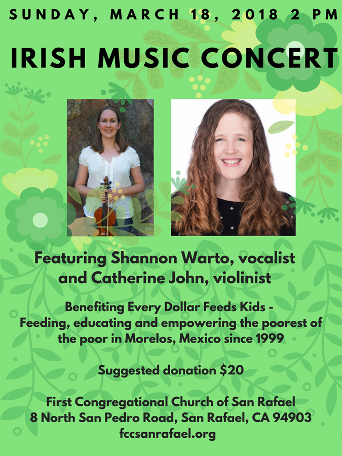 Irish Music to Benefit EDFK @ First Congregational Church | San Rafael | California | United States
